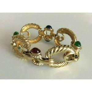 """Joan Rivers Gold Tone Detailed Link Bracelet 7.5"""""""